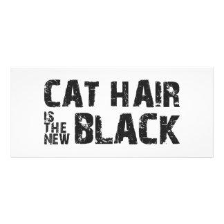 Katzen-Haar ist das neue Schwarze Werbekarte