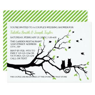 Katzen in ein Baum-den Streifen - der Polterabend 12,7 X 17,8 Cm Einladungskarte
