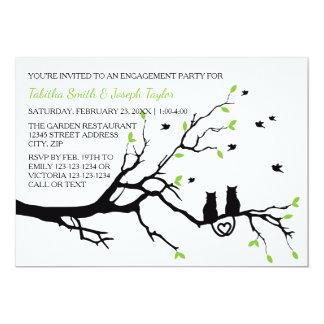 Katzen in einem Baum - Verlobungs-Party Einladung