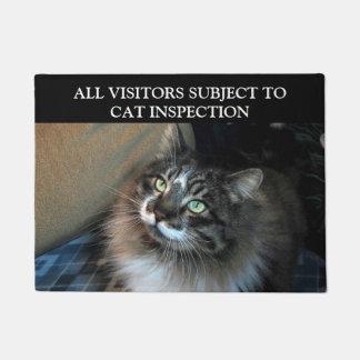 Katzen-Inspektion unwiderstehliche Zorro Fußmatte Türmatte