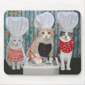 Katzen-/Kitty-Köche Mousepads