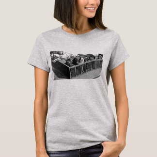 Katzen-Klavier-Shirt T-Shirt
