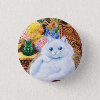 Katzen-Knopf Louis Wain, lustige Vintage Katze Runder Button 2,5 Cm