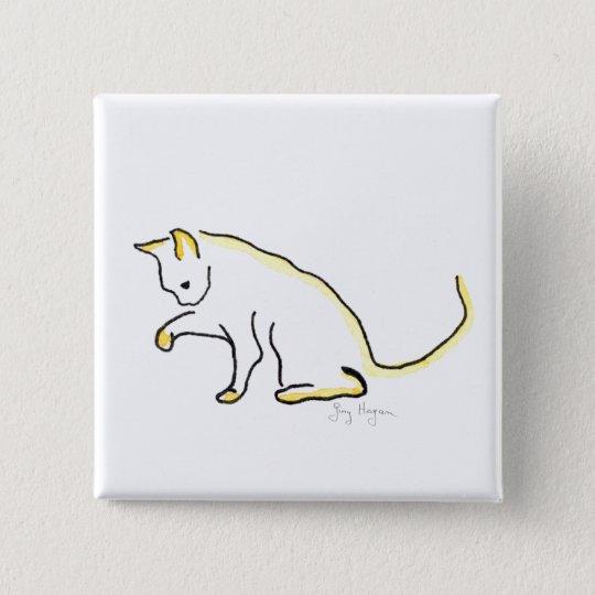 Katzen-Knopf Quadratischer Button 5,1 Cm