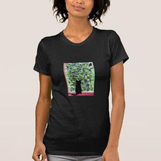 Katzen-Kunst-schwarze Katzen-Vogelbeobachtung! T-Shirt
