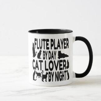 Katzen-Liebhaber-Flötenspieler Tasse