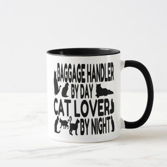 Katzen-Liebhaber-Gepäckdienst-Beschäftigter Tasse