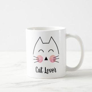 Katzen-Liebhaberniedliche Hand-Gezeichnete Kaffeetasse