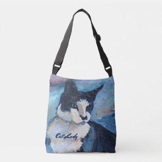 Katzen-Malerei-kundenspezifische Schablonen-Tasche Tragetaschen Mit Langen Trägern