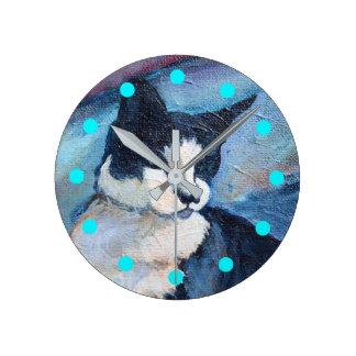 Katzen-Malerei-Uhr Runde Wanduhr