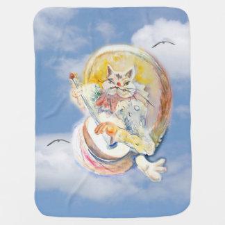 Katzen-Musik in den Wolken Baby-Decke
