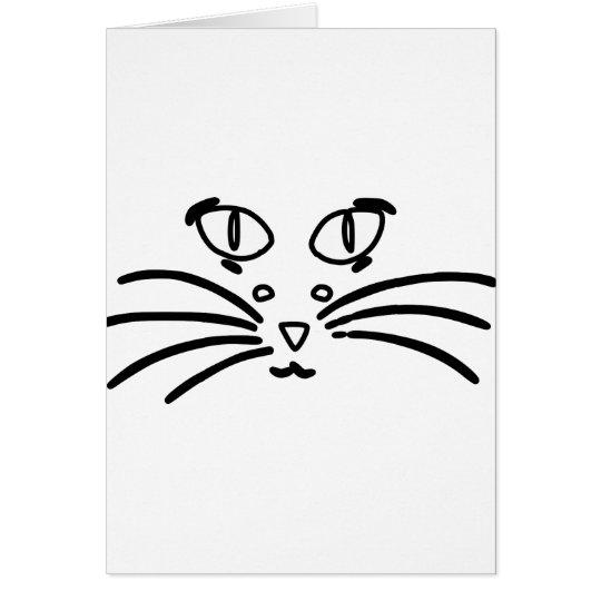 Katzen-oder Mäuseoptische Täuschung Karte