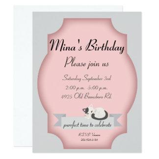 Katzen-Party 10,8 X 14 Cm Einladungskarte