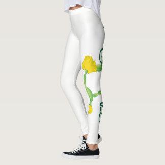 Katzen-Pose-Gamaschen (Blumen-Pose-Logo) Leggings