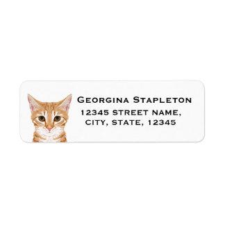 Katzen-Rücksendeadressen-Aufkleber - kundengerecht Rücksendeetiketten