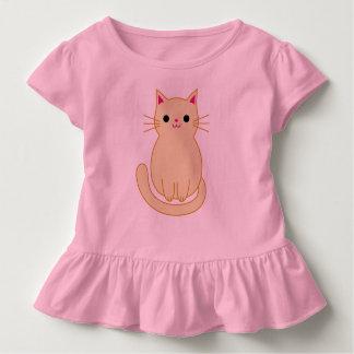 Katzen-Rüsche-Spitze Kleinkind T-shirt