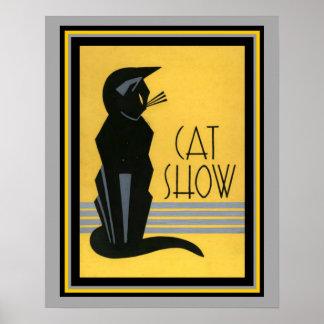Katzen-Show-Kunst Deko 16 x Plakat 20