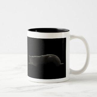 Katzen-Silhouette-Tasse Zweifarbige Tasse