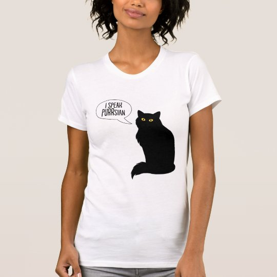 Katzen sprechen feinen das Jersey-T - Shirt