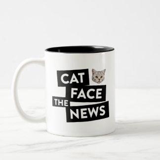 Katzen-Tasse Zweifarbige Tasse