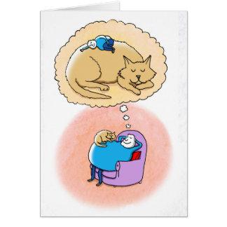 Katzen-Träume Grußkarte