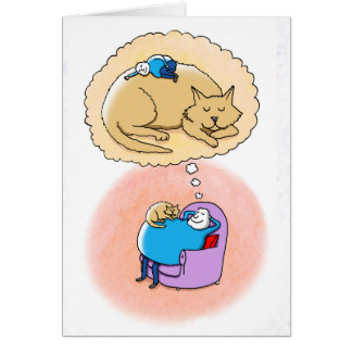 Katzen-Träume Karte