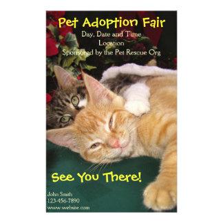 Katzen-u. Hunderettungs-Ereignis, Haustier-Tier-Ad 14 X 21,6 Cm Flyer