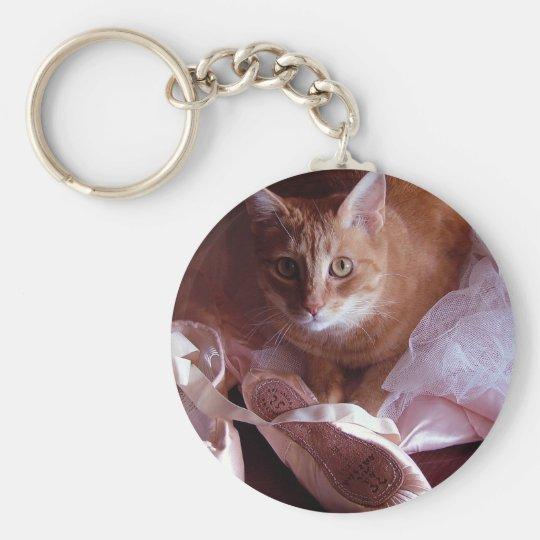 Katzen-und Ballett-Pantoffel Schlüsselanhänger