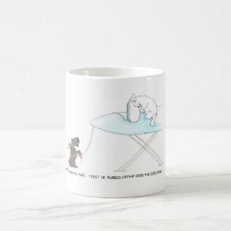 Katzen- und HundeCartoon lustig, schottischer Tasse