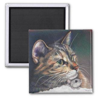 Katzen- und Mäusemagnet Quadratischer Magnet