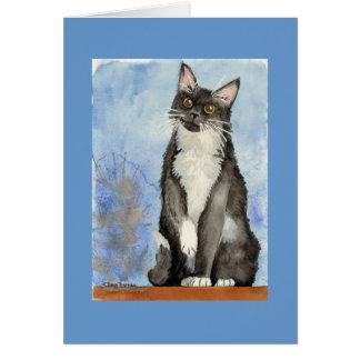Katzen-Valentinsgrußkarte Karte