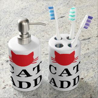 Katzen-Vati-Zahnbürste-Halter-und Badset