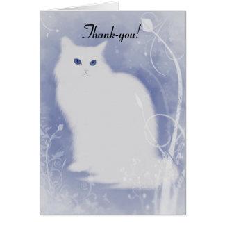 Katzen-Weihnachten Dankes- Karte