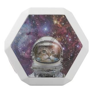 Katzenastronaut - verrückte Katze - Katze Weiße Bluetooth Lautsprecher