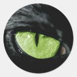 Katzenauge Runder Aufkleber