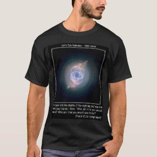 Katzenaugen-Nebelflecke mit Psalm 8 T-Shirt