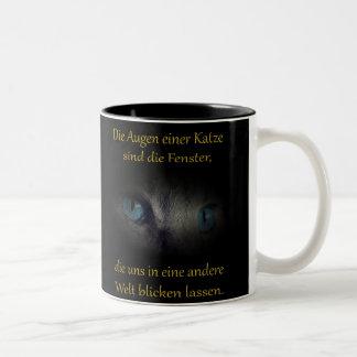 Katzenaugen Zweifarbige Tasse