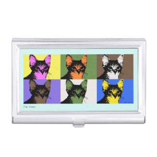 Katzenliebhaber-Popkunstgeschäfts-Kartenhalter Visitenkarten-Dosen