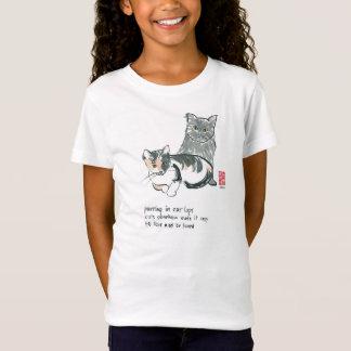 Katzenliebhabert-stück mit angepasstem Mädchen des T-Shirt