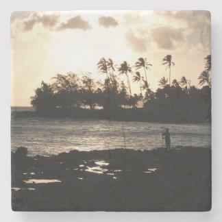 Kauai-Sonnenuntergang-Stein-Untersetzer Steinuntersetzer