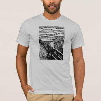 Kauen Sie den Schrei-Lithographie-T - Shirt