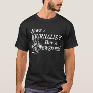 Kauf-Zeitung retten Journalisten grundlegendes T-Shirt