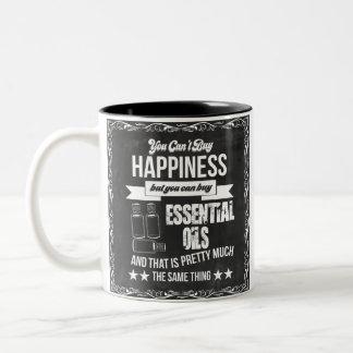 Kaufende ätherische Öle Gleichgestellte Glück Zweifarbige Tasse