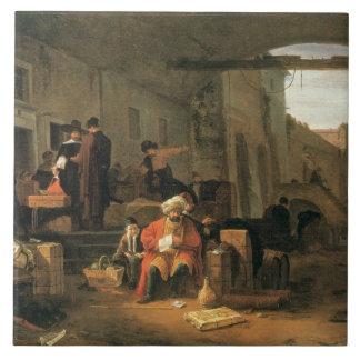 Kaufleute von Holland und vom Mittlere Ostenhandel Keramikfliese