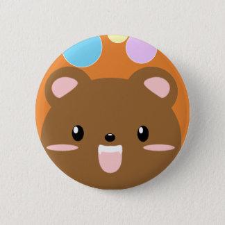 Kawaii Bär Pinback Knopf (wählen Sie Farbe) Runder Button 5,1 Cm