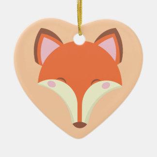 Kawaii Fox Keramik Ornament