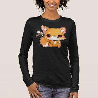 Kawaii Fuchs mit niedlicher Eiscreme Langarm T-Shirt