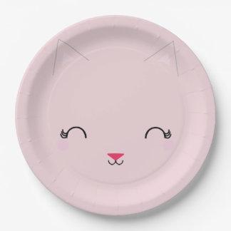 kawaii Kitty CAT-GEBURTSTAGS-Party-Platte ROSA Pappteller