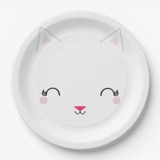 kawaii Kitty CAT-GEBURTSTAGS-Partyplatte Pappteller