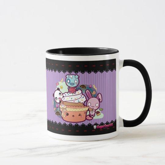 Kawaii kleiner Kuchen in Angriff genommen! Tasse